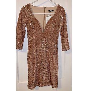NWT 🌟 BOOHOO SPARKLY GOLD DRESS